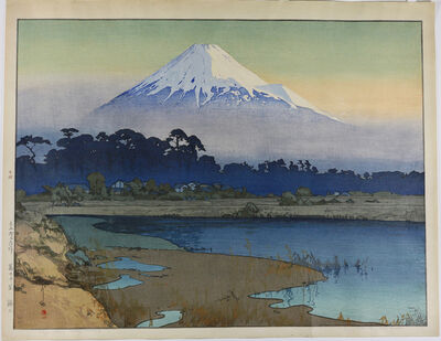 Yoshida Hiroshi, 'Fujiyama: First Light of the Sun', 1926
