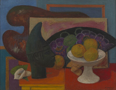 Mark Gertler, 'Still Life with Fan and Benin Head', 1937