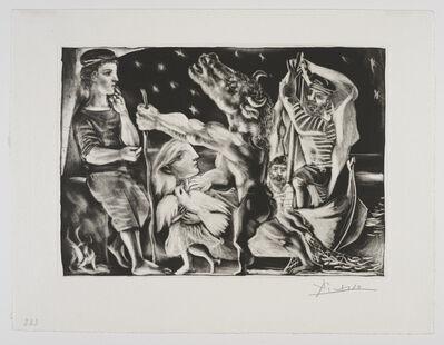 Pablo Picasso, ''Minotaure aveugle guidé par Marie-Thérèse au Pigeon dans une Nuit étoilée' from the 'Suite Vollard'', 1934