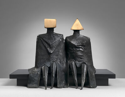 Lynn Chadwick, 'Sitting Couple in Robes I', 1980