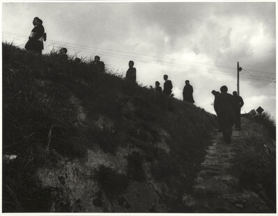 W. Eugene Smith, 'untitled (Newsmen making the trek between the homes of victims) from Minamata', 1971-1973