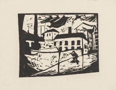 Erich Heckel, 'Factory', 1910