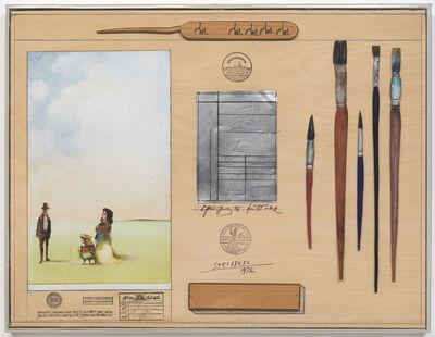 Saul Steinberg, ' Table Series: Artist', 1972