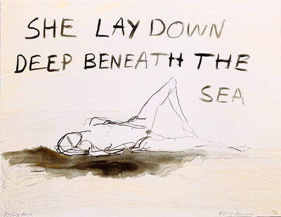 Tracey Emin, ' She Lay deep down beneath the sea', 2011