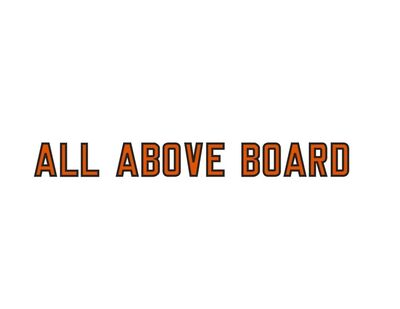 Lawrence Weiner, 'ALL ABOVE BOARD (CAT.# 1156)', 2019