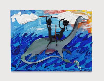 Devin Troy Strother, 'Gina and Shaniqua on a plesiosaur', 2018