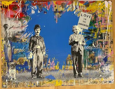 Mr. Brainwash, 'Juxtapose Blue', 2020