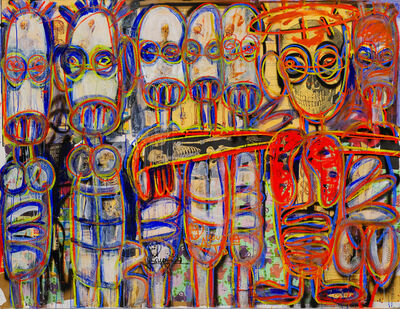 Aboudia, 'Nouchi Revolution Voodoo', 2021