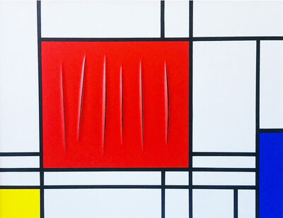 Jean-Paul Donadini, 'Fontana Mix Mondrian', 2019