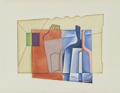Stuart Davis, 'Still LIfe with Bottles', 1927
