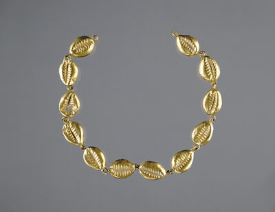 'Gold Beads in the Shape of Cowrie Shells', 220 -100 BCE