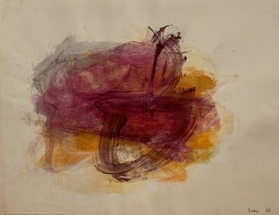 Cleve Gray, 'Reverse Drawing 2 (orange)', 1966