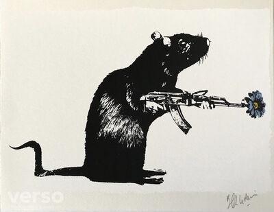 Blek le Rat, 'Warrior (Le Guerrier)', 2017