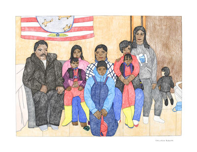 Kudluajuk Ashoona, 'Kiugak and Family', 2019