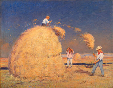 Theodore Wendel, 'Pitching Hay, Upper Farm', ca. 1915