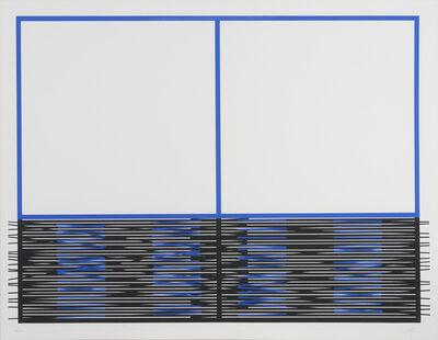 Jesús Rafael Soto, 'Vibration inférieure. Serie Madrid', 1990