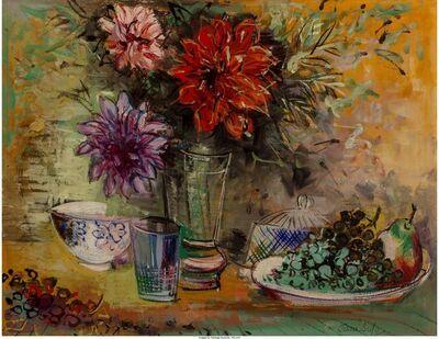 Jean Dufy, 'Nature morte aux fleurs et au compotier'