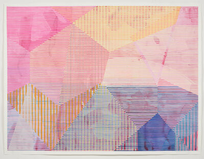 Melissa Casey, 'Yellow, Pink and Blue over Quinacridone', 2019