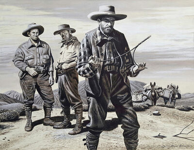 Stevan Dohanos, 'Water Hunters (Magazine Illustration of the Old West, American West, Cowboys)', ca. 1950