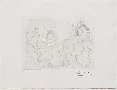 Pablo Picasso, 'Raphael et la Fornarina X..., from the 347 Series', 1968