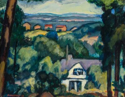 Samuel Halpert, 'Landscape with Houses', 1913
