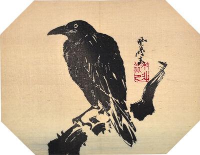 Kawanabe Kyosai, 'Crow Fan Print', ca. 1880s