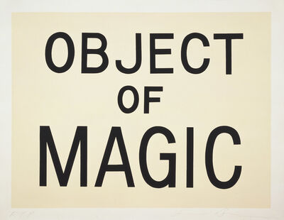 Jonathan Borofsky, 'Object of Magic', 1989