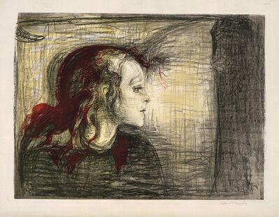 Edvard Munch, 'The Sick Child. I', 1896