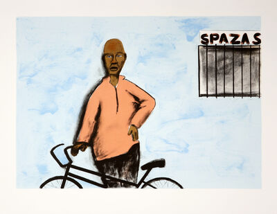 Sam Nhlengethwa, 'Appointment at the Spaza Shop', 2018