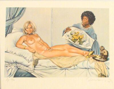Mel Ramos, 'Manet's Olympia', 1974