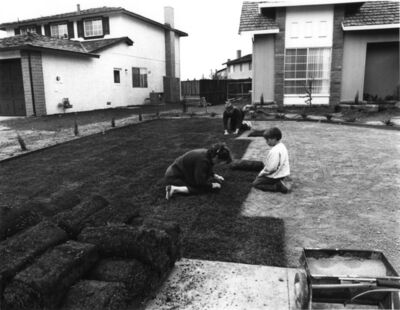 Bill Owens, 'I bought the lawn', 1971