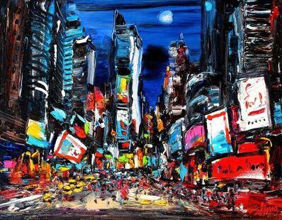Zhu Hong, 'Night Times Square New York'