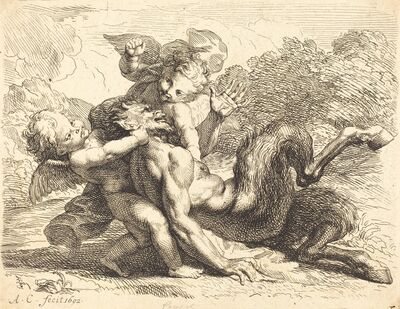 Antoine Coypel, 'Pan Overcome by Putti', 1692