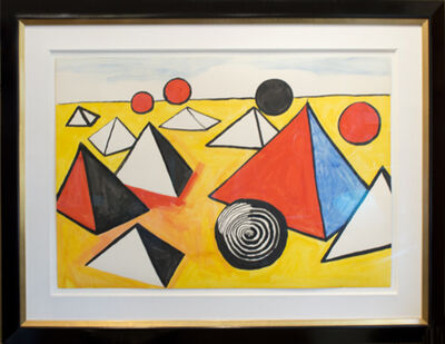 Alexander Calder, 'Pyramids and Circles', ca. 1970