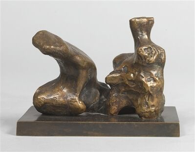Henry Moore, 'Maquette for Two Piece Reclining Figure no. 1 ', 1972