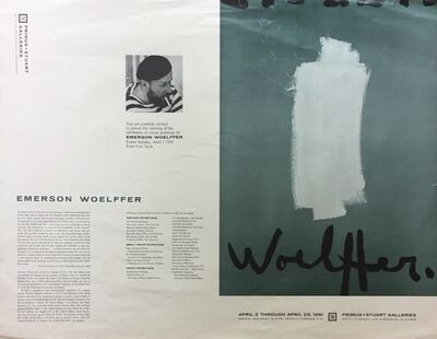 Emerson Woelffer, 'Vintage Exhibition Poster', 1961