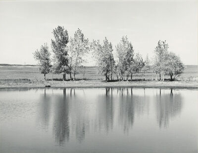 Robert Adams, 'Farm Pond About to be Destroyed by Earth Moving Machinery', 1977