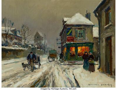 Edouard Léon Cortès, 'Soir de neige à Cormelles (Calvados)', circa 1957