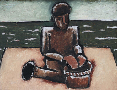 Josef Herman RA, 'Fisherman with Basket', 1980