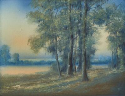 "Ed Diers, 'Scenic Vellum plaque (framed), ""Early Morning,"" Cincinnati, OH', 1917"
