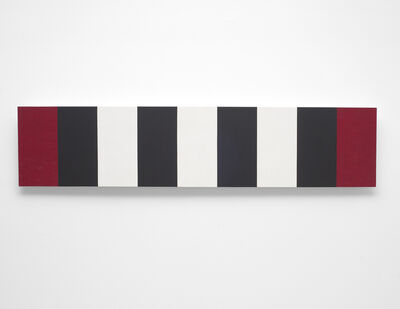 Mary Corse, 'Untitled (Red/White/Black Bands/Beveled) ', 2010