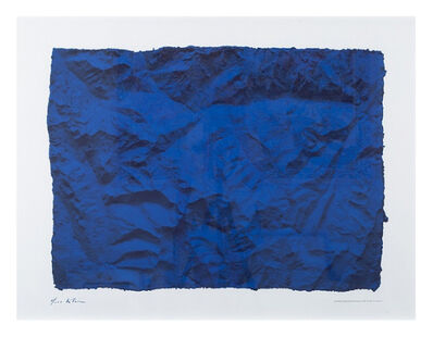 Yves Klein, 'Untitled (Planetary Blue Relief, RP6) (Certified by Yves Klein Archives)', 2015
