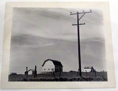 Edward Weston, 'Untitled ~ Barn & Telephone Poles', 1941
