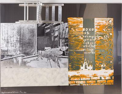 Robert Rauschenberg, 'Pegasits/ ROCI USA (Wax Fire Works)', 1990