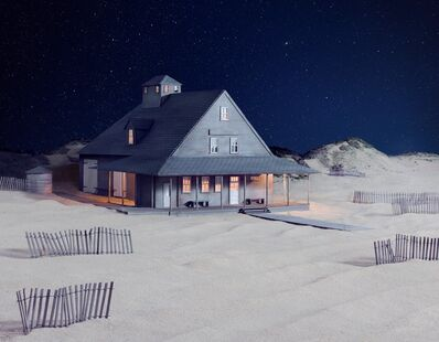 James Casebere, 'Party at Caffey's Inlet Lifesaving Station (Dare County, NC)', 2013