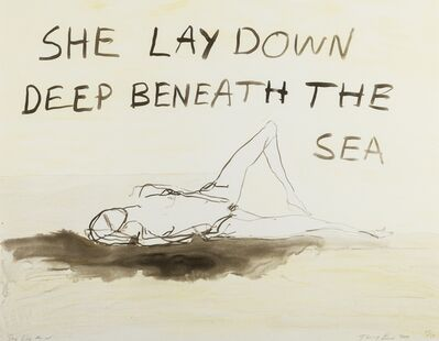 Tracey Emin, 'She lay deep down beneath the sea', 2011