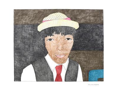 Kudluajuk Ashoona, 'Untitled (Figure in Hat & Suit)', 2019