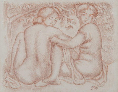 Aristide Maillol, 'Deux jeunes femmes sous un arbre', Unknown