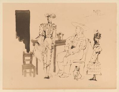 Pablo Picasso, 'Deaux Picador Et Femme', 1975
