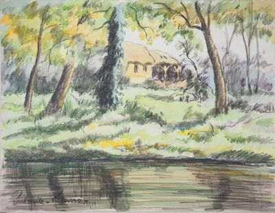 Paulémile Pissarro, 'The house by the lake', 20th Century